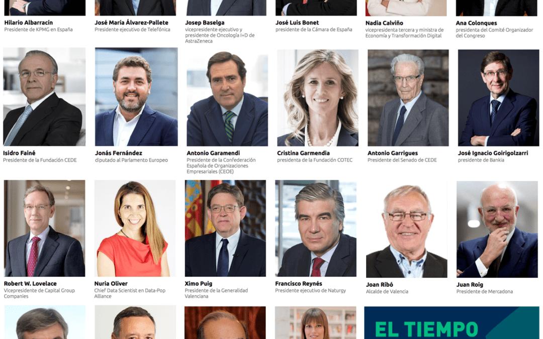 Los principales líderes empresariales españoles se reúnen el miércoles 21 en el Congreso CEDE